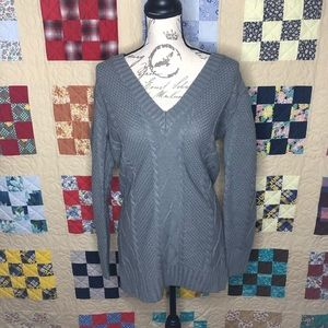 NWT Tobi Cable Knit V-Neck Tunic Size Small